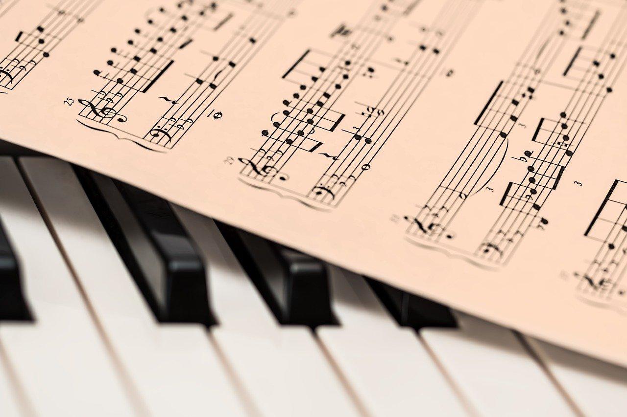 piano, music score, music sheet